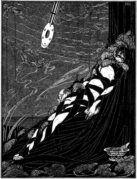 """PitandthePendulum-Clarke"" by Harry Clarke - Printed in Edgar Allan Poe'sTales of Mystery and Imagination, 1919.. Licensed under Public Domain via Wikimedia Commons - https://commons.wikimedia.org/wiki/File:PitandthePendulum-Clarke.jpg#/media/File:PitandthePendulum-Clarke.jpg"