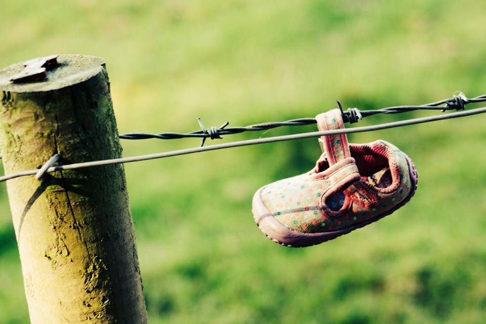 Holy shit - if you could get barbed wire and baby shoes - that's a gnarly dystopia. photo Dargie Lynch
