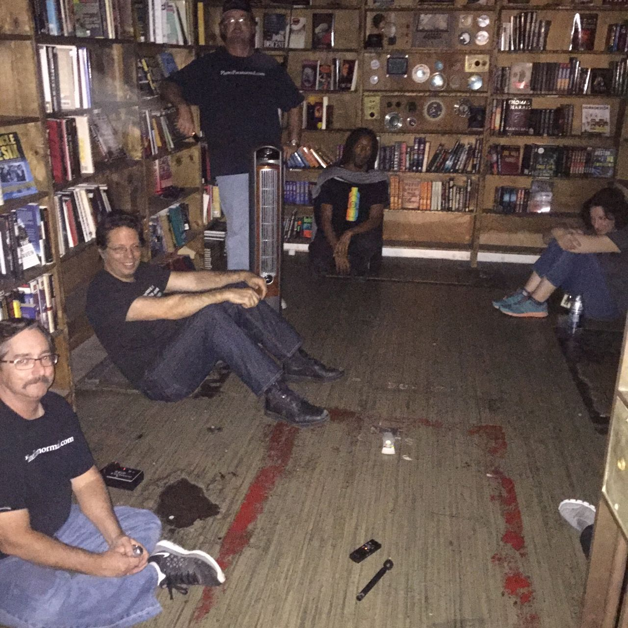 Asking questions, listening - and busting each other's chops - where else but the horror vault?