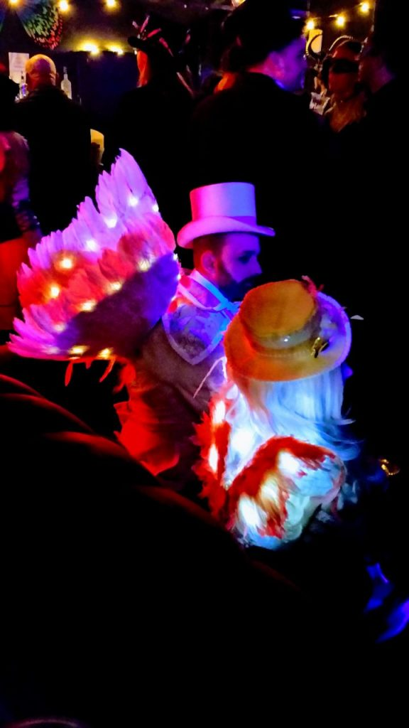 Ewardian Ball 2017 Light up wings